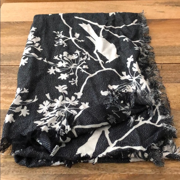 Cejon Accessories - Cejon Scarf - grey/silver with birds/flowers